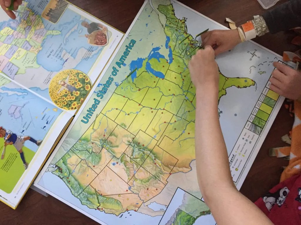 Learn US Physical Geography with Pin It Maps.