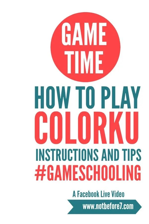Instructions, Tips, and Tricks for playing the ColorKu board game.