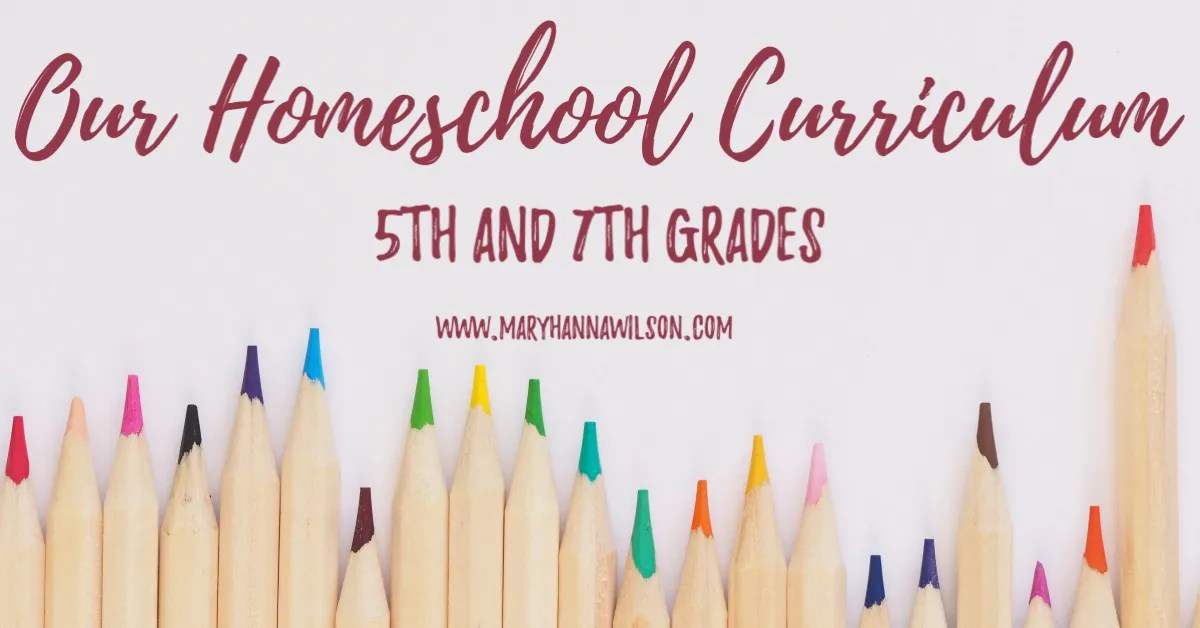 Our Homeschool Curriculum Choices for 5th and 7th Grades