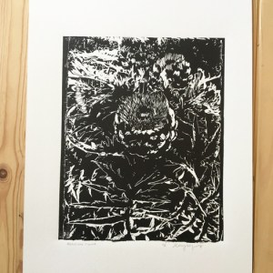 Artichoke Linocut Print
