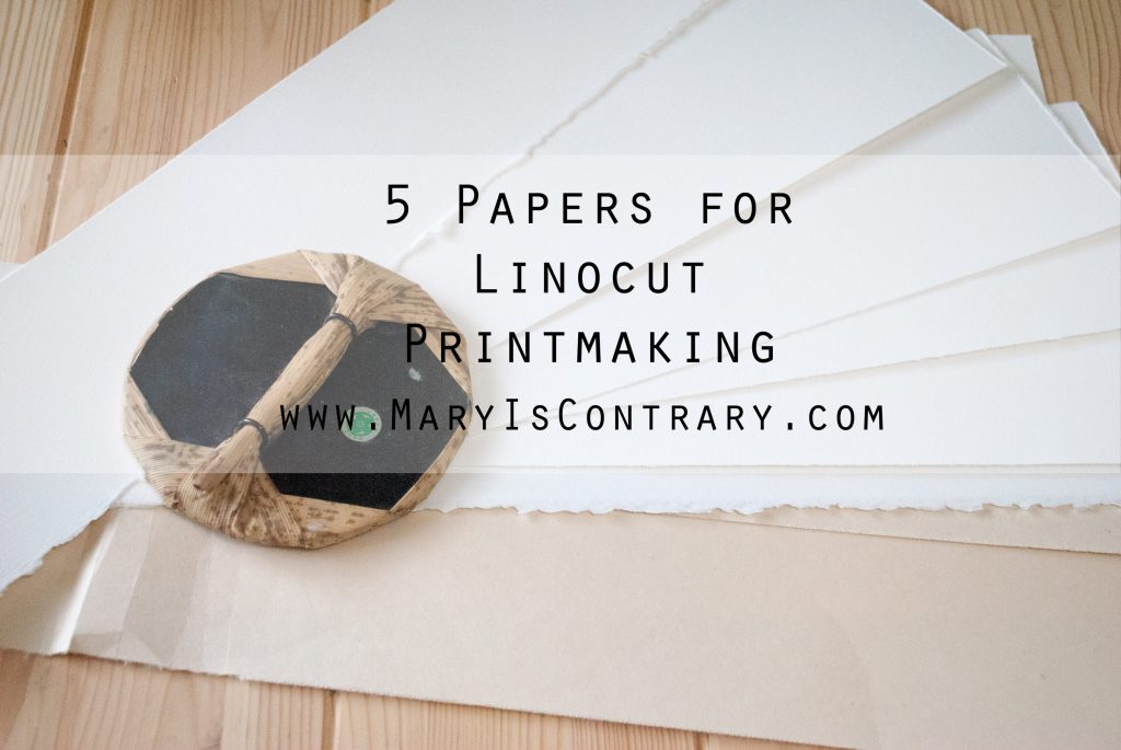 papers for linocut printmaking