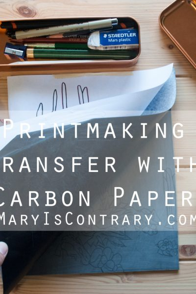 printmaking transfer with carbon paper