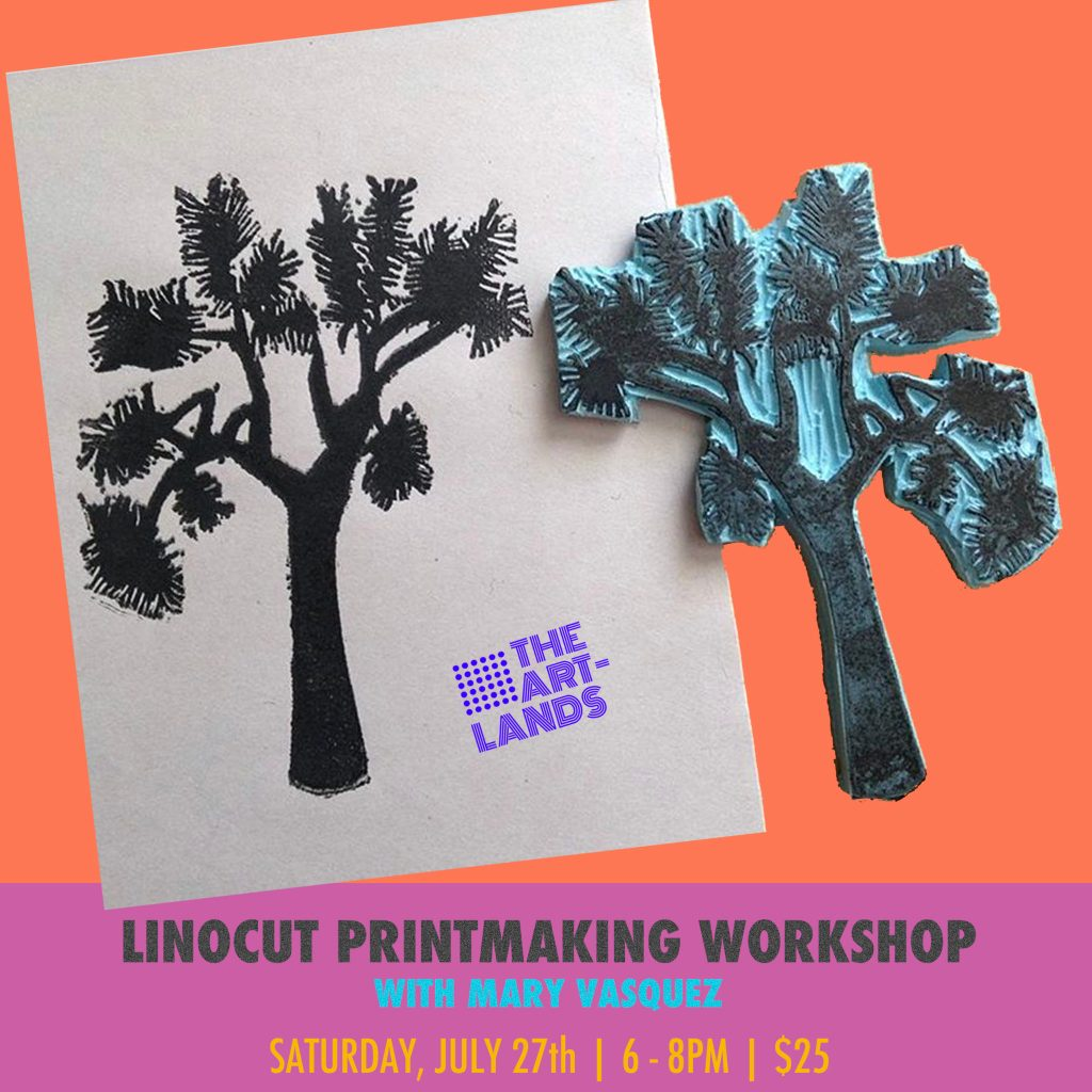 Linocut Printmaking Workshop with Mary Vasquez