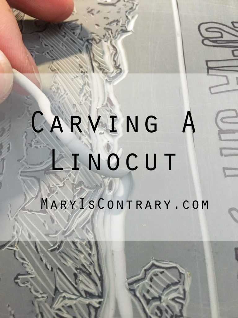 Carving a Linocut Blog post about how to carve a linocut for home printmaking.
