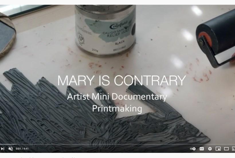 Mini documentary printmaking
