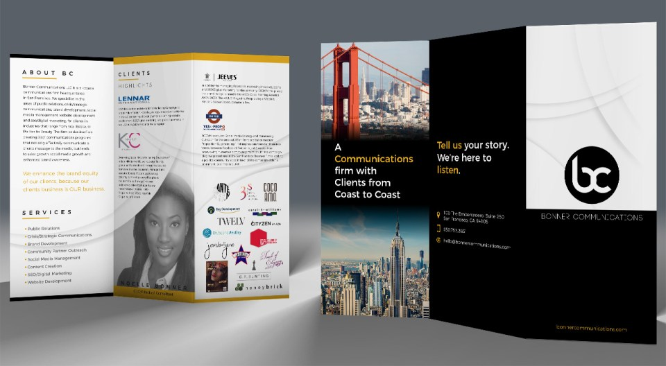 Bonner Communications Trifold Brochure Design