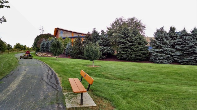 Green grass at the world headquarters of Miron.