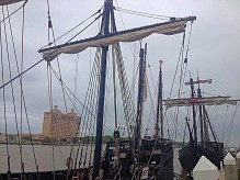 Pirate ships on River Street.