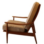 Mid Century Modern High Back Lounge Chair