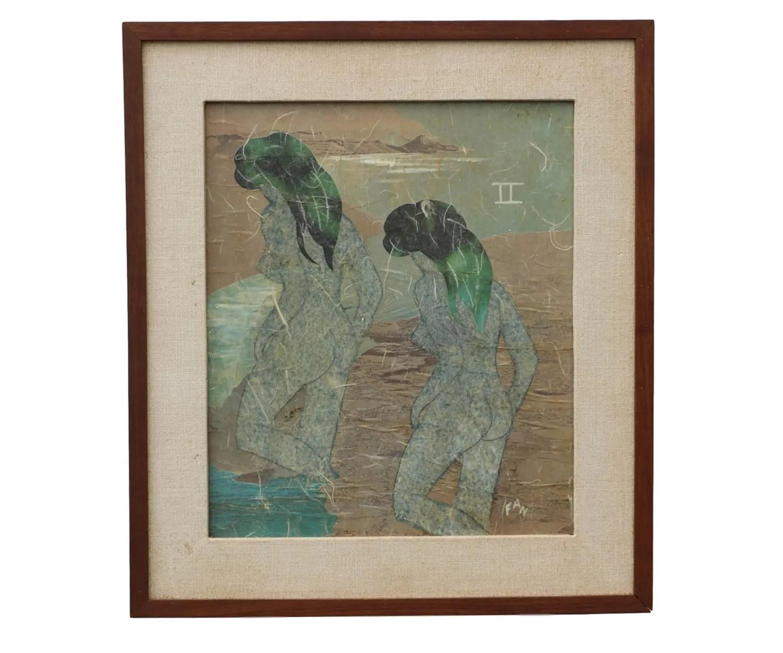 Original Mixed Media Abstract Painting By Frances Ward