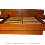 Jesper Danish Modern Teak Queen Platform Bed With Floating Nightstands Mary Kay S Furniture