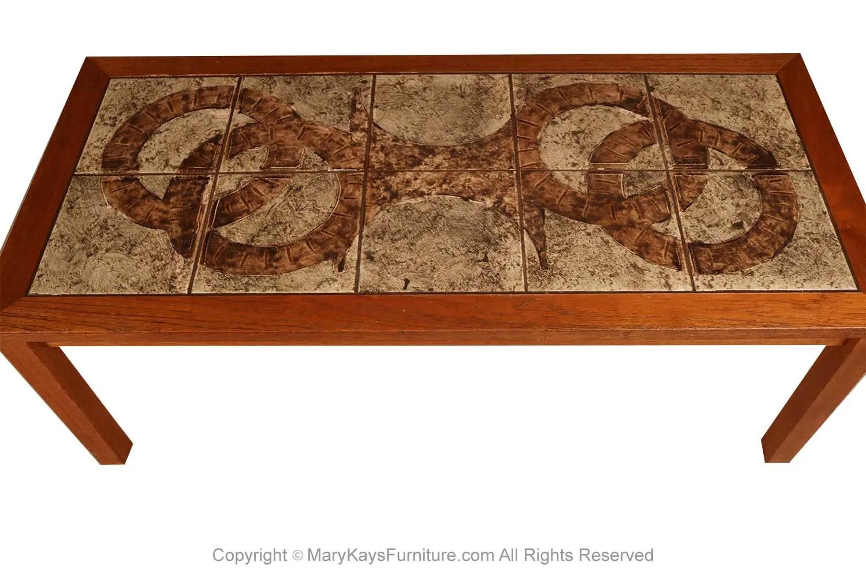 danish modern tile top coffee table mary kay s furniture