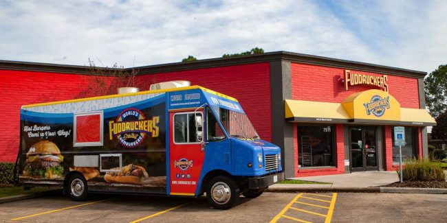 Photo of Fuddrucker's Location and Company Truck. Courtesy of Facebook.com.