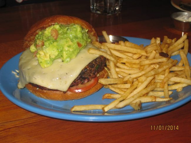 Photo of Coastal Flat's Veggie Burger. Courtesy of Yelp.com.