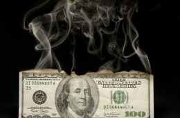 Money goes up in smoke