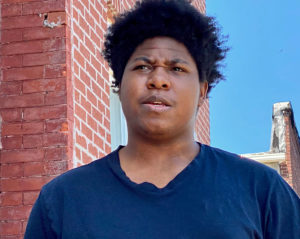 """""""Why did that happen to us in school?"""" Damani Thomas, 18, of Baltimore in spring 2020. (Capital News Service photo)"""