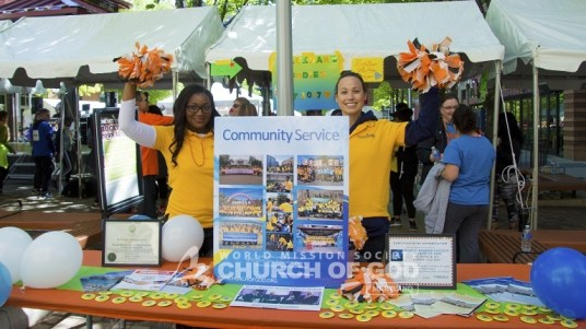 world mission society church of god, wmscog, church of god, church of god in maryland, rockville town center, ms walk, yellow shirt volunteers
