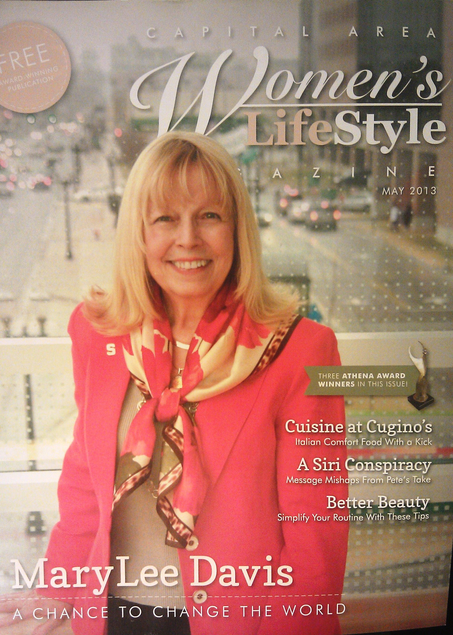 Click the photo above to read the full article that appeared in the Capital Area Women's Lifestyle Magazine