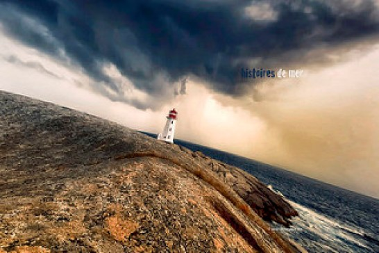 An establishing shot lighthouse