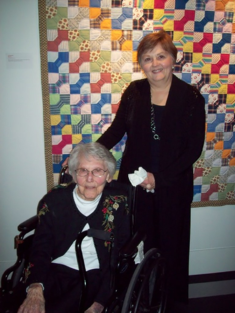 Gail and Lois at quilt show