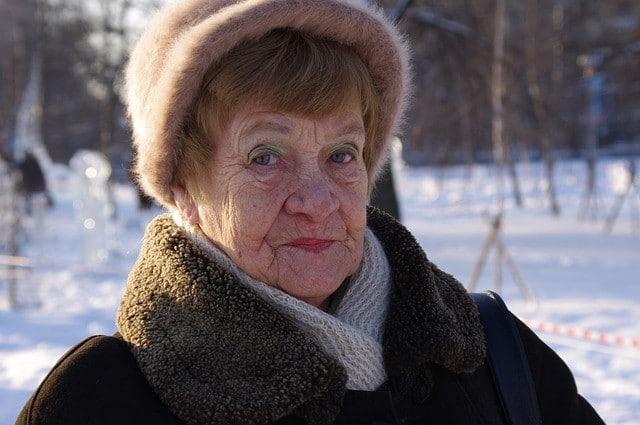 widow in snow