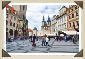 Prague establishing shot