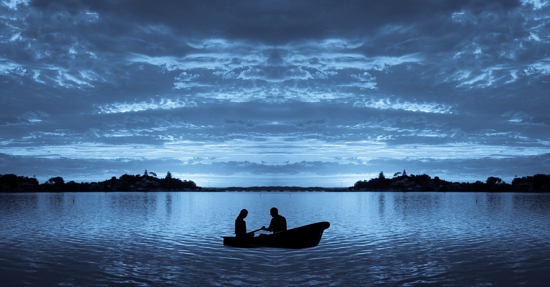 two people in boat