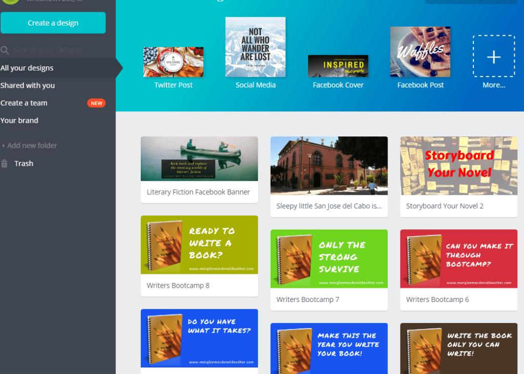 Canva author platform