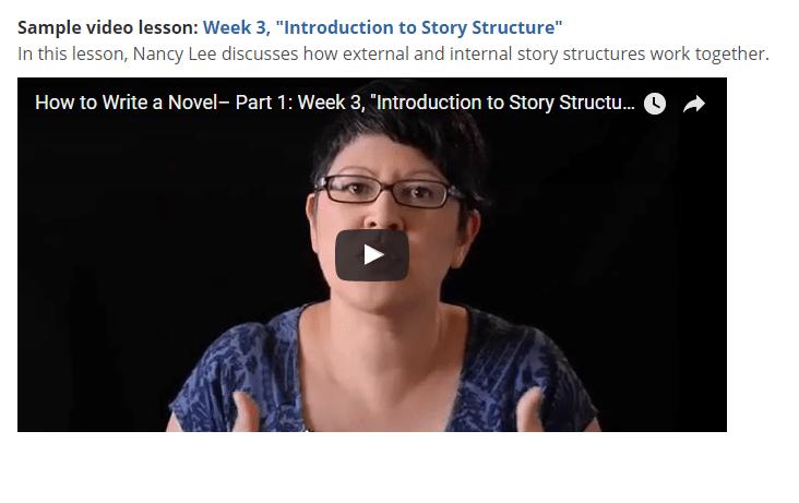 online classes for novel writing
