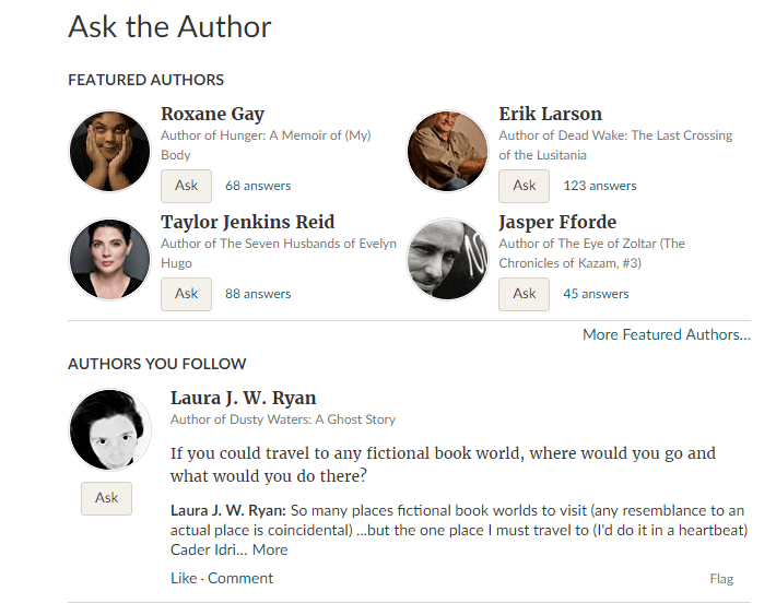 Ask the author