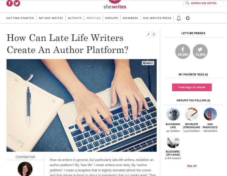 SheWrites women writers