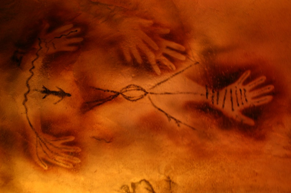 cave painting of human hands