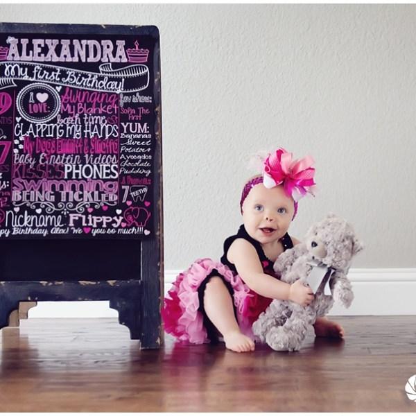 Alex turns ONE – Flower Mound Photographer