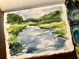 River, watercolor