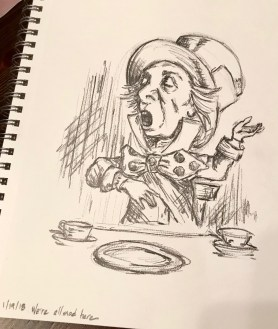 Mad Hatter, graphite