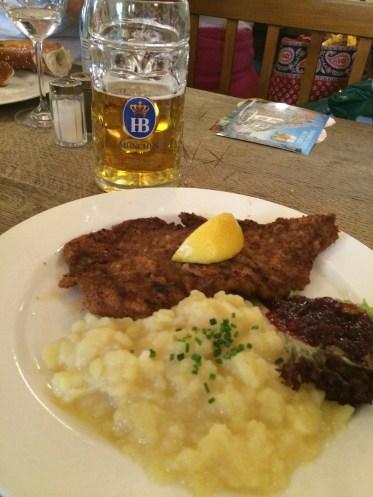 Hofbräuhaus & schnitzel in Munich