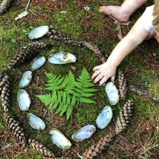 Making Nature Mandalas