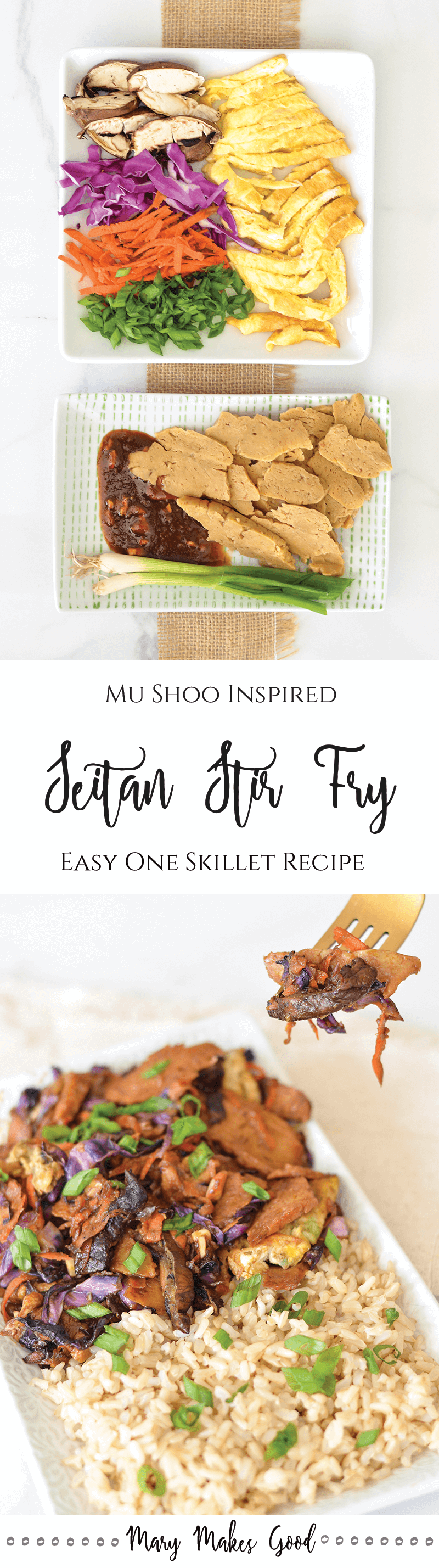 Make Your Own One Skillet Mu Shoo Seitan - A tasty choice for Meatless Mondays!