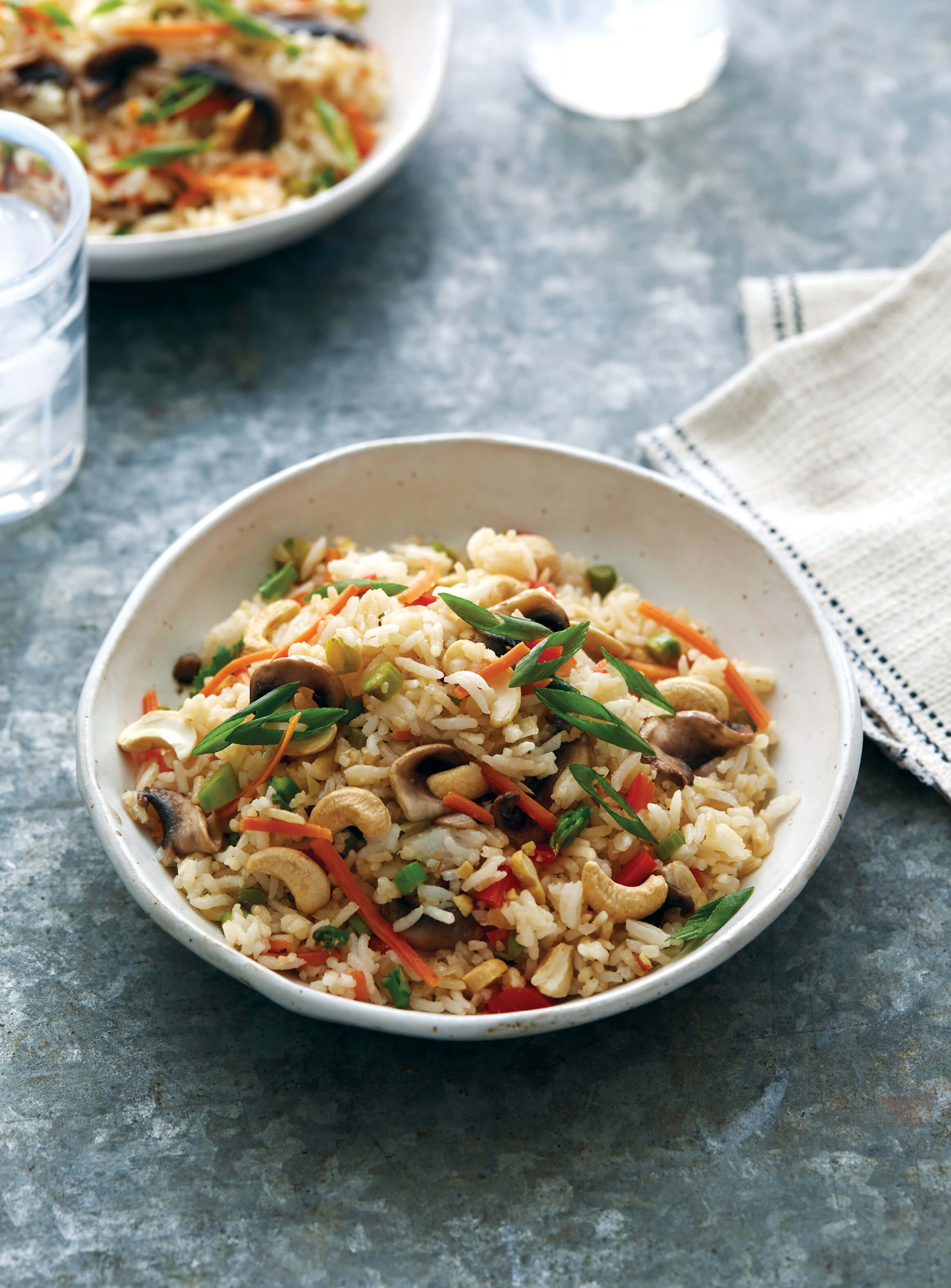 Cashew Mushroom Fried Rice | Seriously Good Freezer Meals