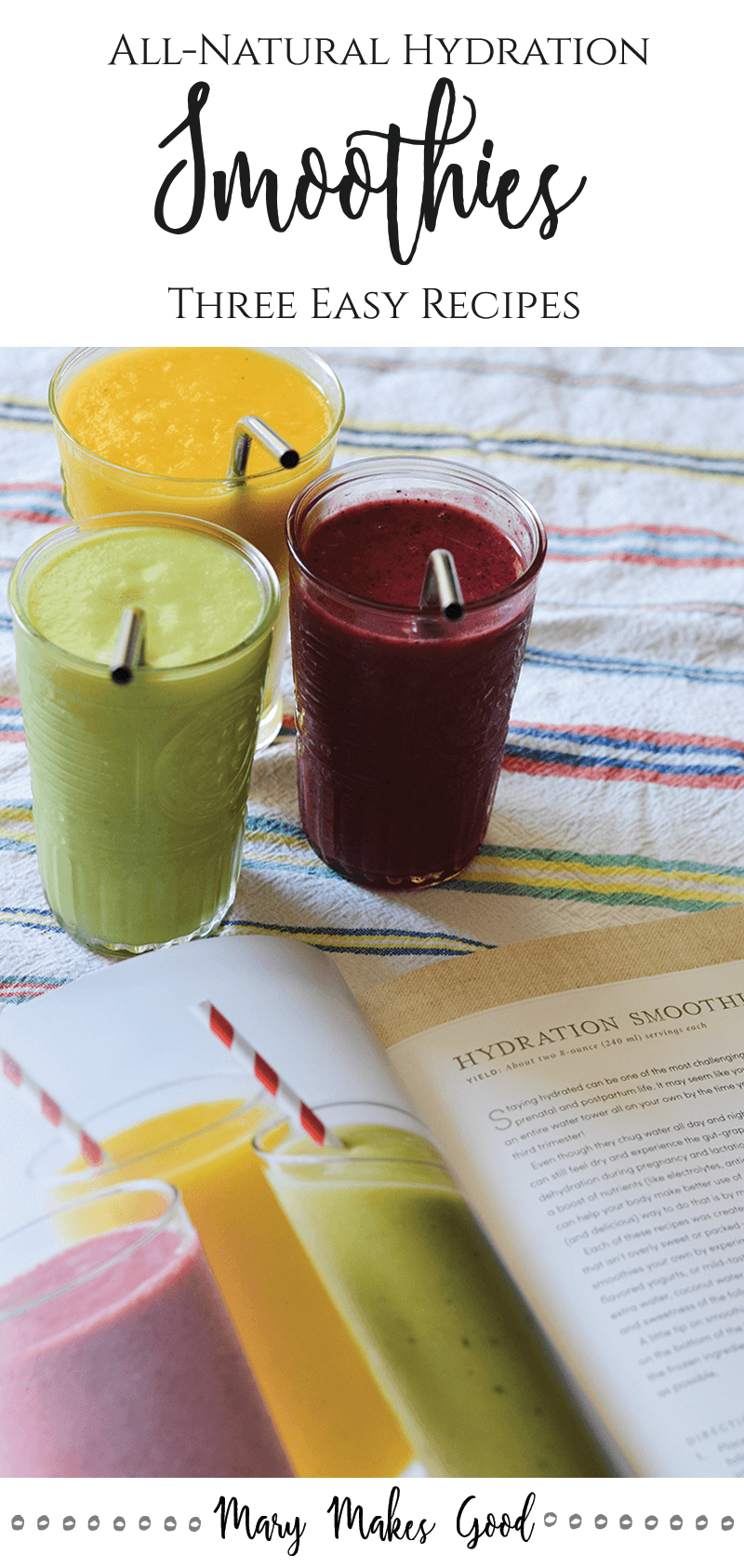Hydration Smoothies - Three Easy Recipes from The Handmade Mama by Mary Helen Leonard