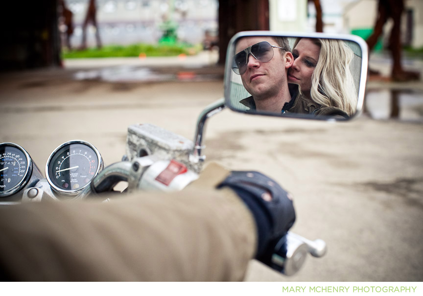 motorcycle engagement shoot