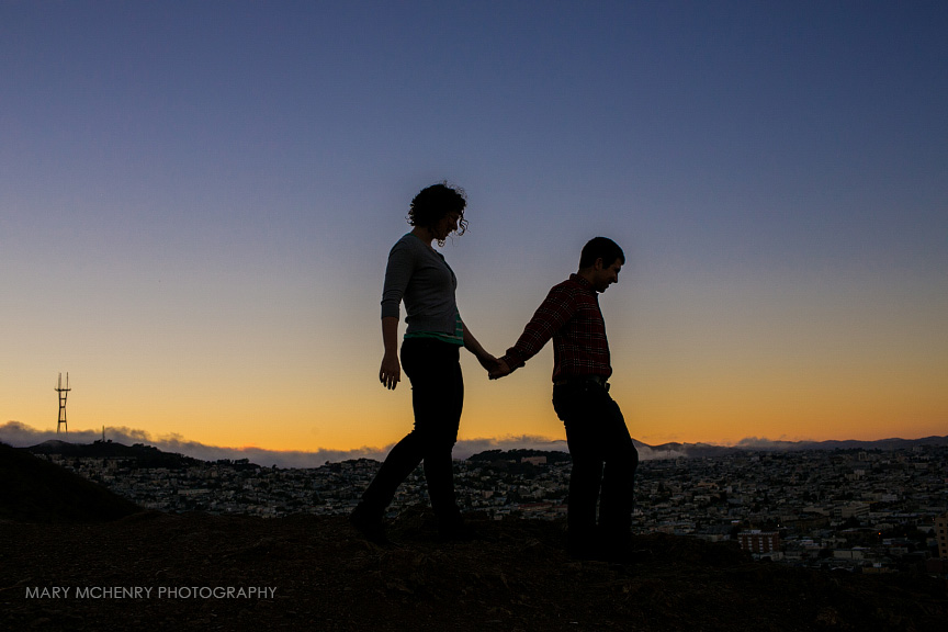 Bernal Hill Engagment session