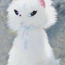 Shaggy White Cat
