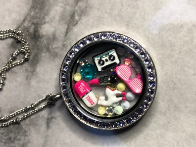 80's themed locket