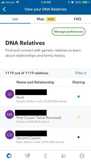 23andme relatives