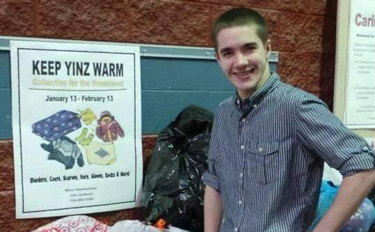 Keep Yinz Warm - Jon now with bags cropped - main photo