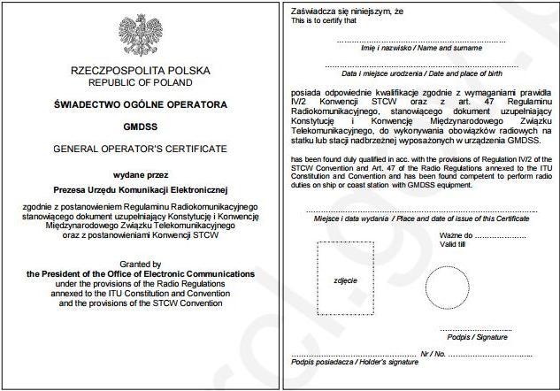 Certyfikaty morskie