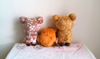 Happy Natural Time Deer Rilakkuma plush set (keeping)