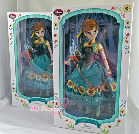 """Two 17"""" Anna Frozen Fever Limited Edition dolls. LE 5000"""