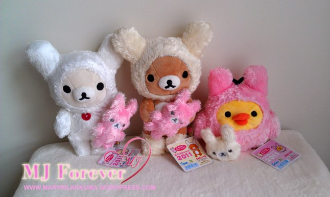 2011 Year of the Rabbit Rilakkuma plush set
